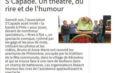 Suite spectacle DINEAULT Le Télégramme 20-09-17
