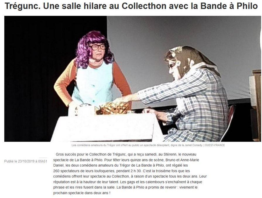 Suite Trégunc Ouest-France 23-10-19